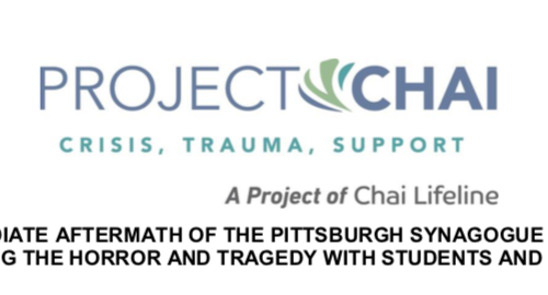 In the Immediate Aftermath of the Pittsburgh Synagogue Massacre: Addressing the Horror and Tragedy With Students and Children